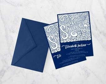 Hydrangea - Bridal Shower Invitation