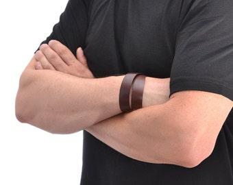 Mens Leather Bracelet / Brown Leather Bracelet For Men, Leather Cuff Bracelet / Leather Band Bracelet, Mens Bracelet, Leather Wristband