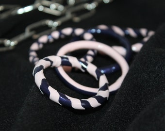 Latex hairtie accessory - scrunchy made from latex (4 pieces)