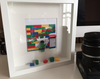 Lego Hulk Character box frames - Personalised name pictures
