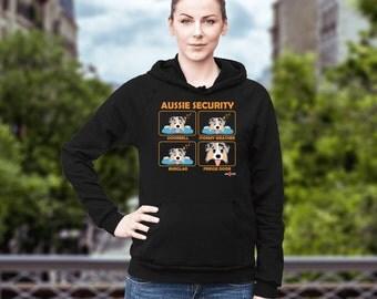 Australian Shepherd | Aussie - Security | Funny Australian Shepherd Hoodie