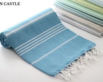 classic teal blue bath towel peshtemal towel turkish bath towel turkish towel