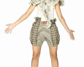 Summer linen shorts and linen scarf