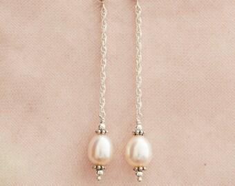 Sterling Silver Hollywood Pearl Earrings