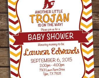USC University of South Carolina College Football Baby Shower Invitation - Birthday Party
