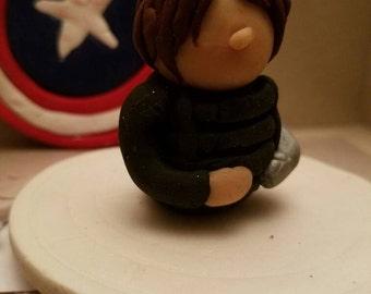 Bucky Barnes The Winter Soldier Clay Figurine