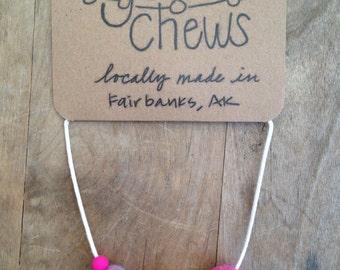 The Petunia // GumChews Teething & Nursing Necklace