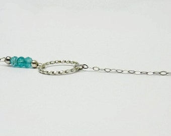 Aquamarine bracelet & ring - Silver 925