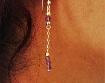 Amethyst - 925 Sterling Silver earrings
