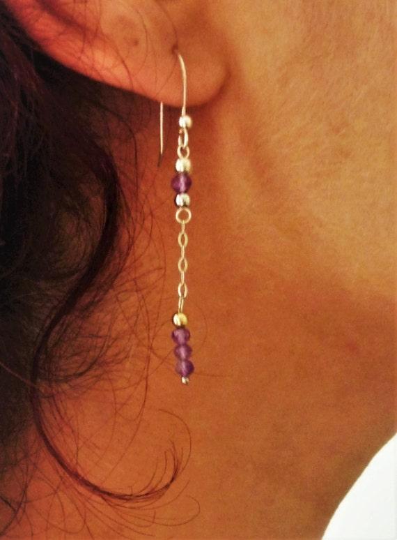 Earrings Amethyst - Silver 925