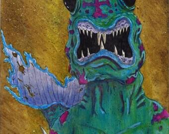 Merman Creature,  Art Print