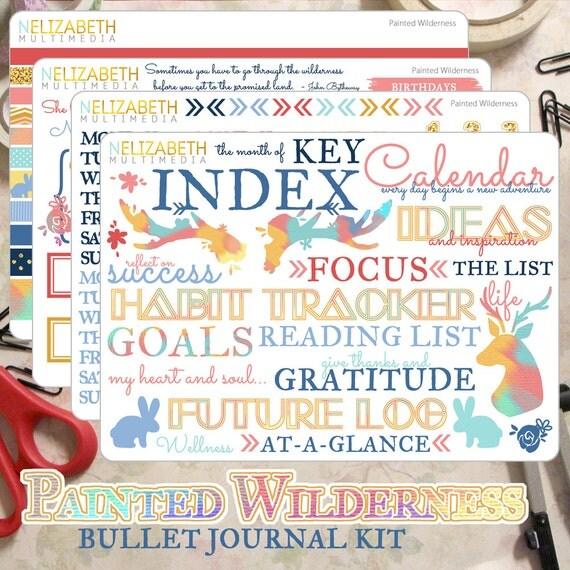 painted wilderness bullet journal kit. Black Bedroom Furniture Sets. Home Design Ideas
