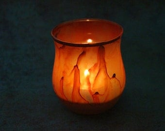 Orange Fire Candle Holder