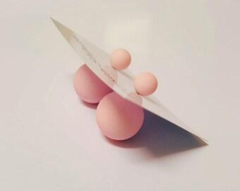 Light Pink Minimalist Ball Earrings Vintage 80's Style