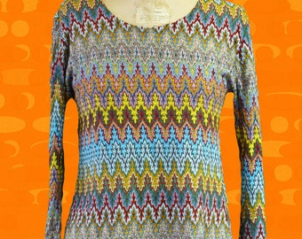 sweater vintage 1970 spychedelic 70