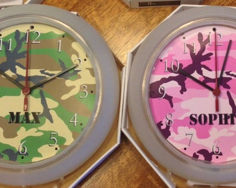 Personalized Camouflage Clock