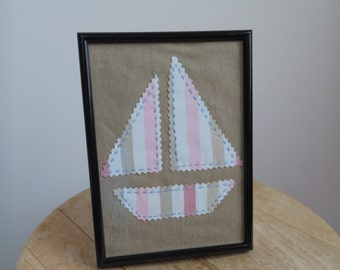Embroidered boat picture
