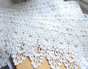 Off white lace trim I Lace trim I Shabby chic lace I Bridal lace I Wedding Lace I Lace I Vintage style lace I Lingerie lace