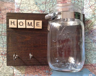 Mason Jar Key Hook