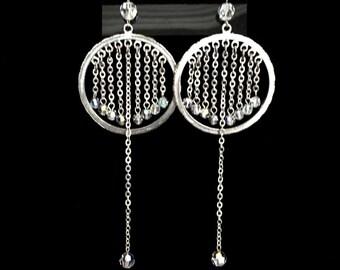 Iridescent Raindrop Earrings