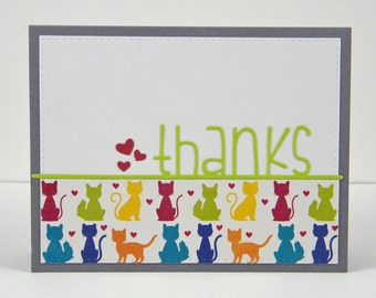 Cat Thank You Card, Cat Thanks Card