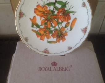 Royal Albert Tiger Lily The Queen Mothers Flowers, With Certificate and box.