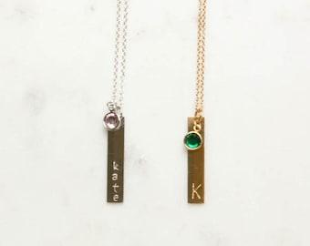 Custom Vertical Bar Necklace
