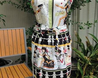 Apron. Handmade Apron. Fashion apron. Steampunk Apron. Busy Lady Apron.