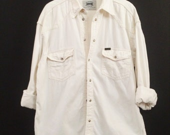 Vintage Cream Wrangler Shirt