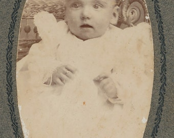 Cabinet Photo of a Surprised Baby from Weatherford, Texas by Lionberger
