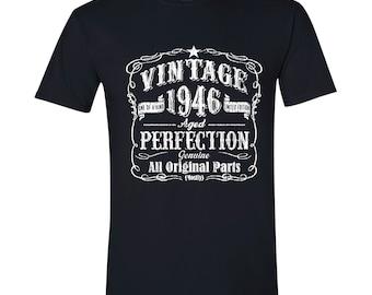 71 birthday tshirt, birthday gift, 1946 year, classic, limited edition BLACK 1946