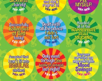 Yay-Me Adult Reward Stickers - PREGNANCY