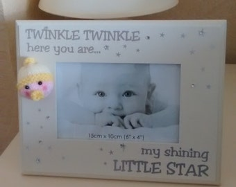 Twinkle twinkle baby face photo frame