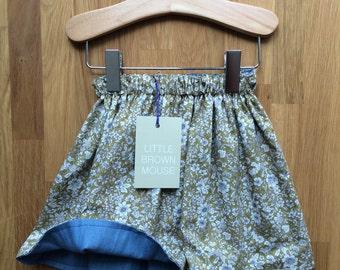 Reversible Denim Skirt