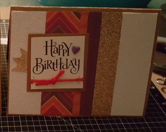 Happy Birthday Card - Sangria