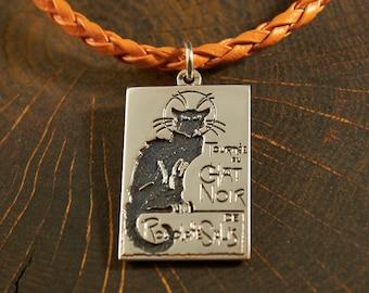 Le Chat Noir, The Black Cat, Black Cat Jewelry, Cat Jewelry, Cat Necklace, Cat Pendant, Black Cat Pendant, Black Cat Necklace, Pet Jewelry