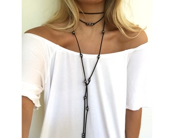 Connor Pearl Wrap Necklace