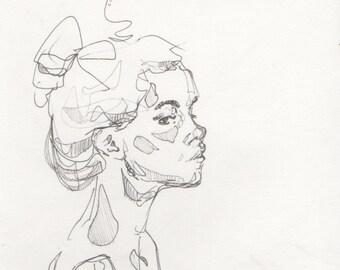 Original pen sketch 8