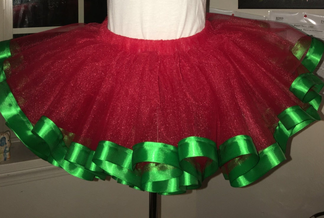 Red Teen And Adult Christmas Tutu Skirt Plus Size
