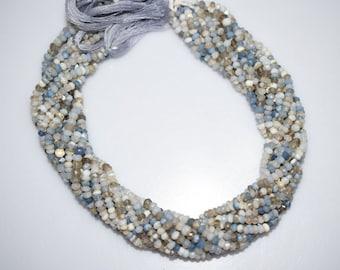 Boulder Opal Faceted Rondelle Beads ,Boulder Opal Roundel Beads , Faceted Rondelle Beads , Gemstone Beads , 3.5 - 4 mm - MC554