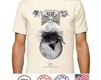 Jesus Christ Tshirt, Guardian Angel Tees, Christ Pantocrator Tshirt, Byzantine Surreal Graphic Tee, Solar System Prints, Organic cotton tees