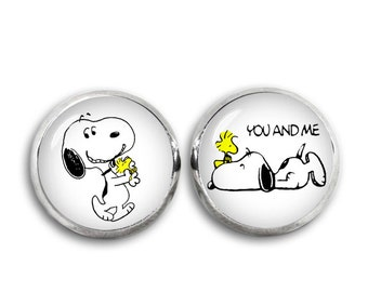 Snoopy and Woodstock Stud Earrings Snoopy Jewelry Fangirl Fanboy Gift for Best Friend