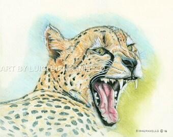 WALL ART Cheetah wildlife fine art print
