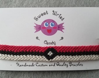Handmade Poké Ball Friendship Bracelet