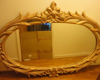 Large Vintage Over Mantel Mirror