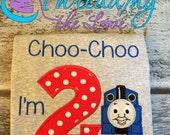 Choo Choo I'm Two! Thomas birthday shirt