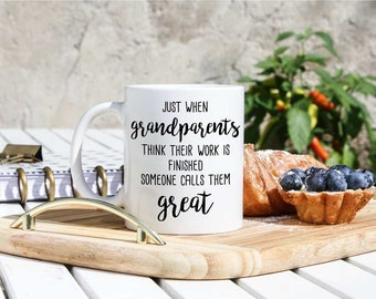 Baby Announcement To Great-grandparents - Great-grandparents Gifts - Great-grandparent Mugs - Baby Reveal To Great Grandparents Gifts