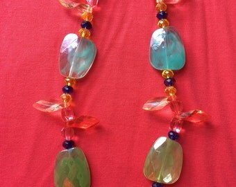 """Jewelry Necklace - 17"""" Multi color bead necklace FREE SHIPPING"""