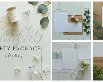 Invitation Mockup | Styled Photography | VARIETY PACKAGE | 4 for 15