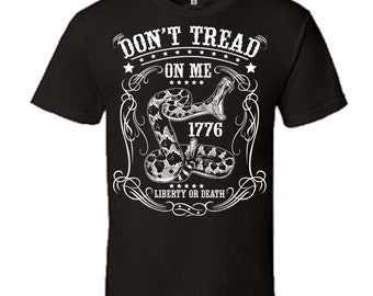 Don't tread on me T-shirt with Snake